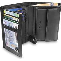 TRAVANDO ® Portefeuille Homme Dublin - 10 Rangements Cartes - Blocage RFID - Porte-Monnaie Classique - Format Portrait - Cadeau Parfait Hommes - Coffret Cadeau - Designed in Germany