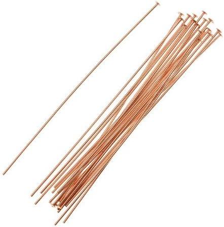 50 ea 14k ROSE GOLD FILLED HEAD PINS 24 ga 2