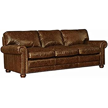 Lazzaro Genesis Sofa, 91 by 40 by 36-Inch, Cocoa Brompton