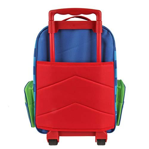 Stephen Joseph Classic Rolling Luggage, Red Dino