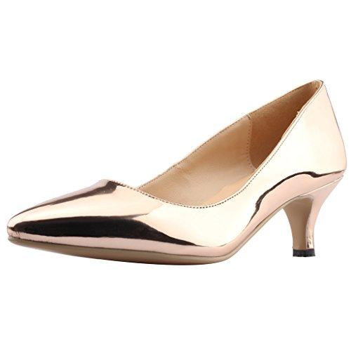 Escarpins Aiguille Chaussures Sur Glisser 5 Femme 5cm Or Cahalfway Calaier npI1qFP0w