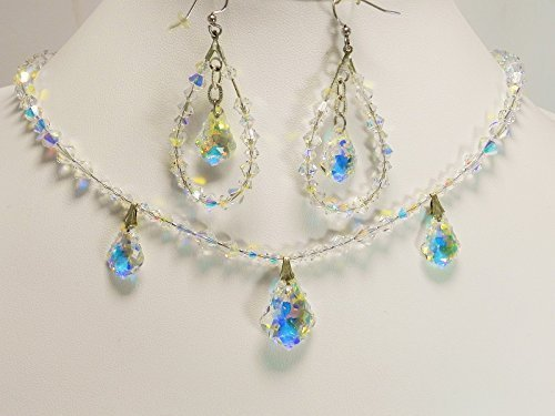 Swarovski Crystal Necklace and Earrings by Jewelry by Josana