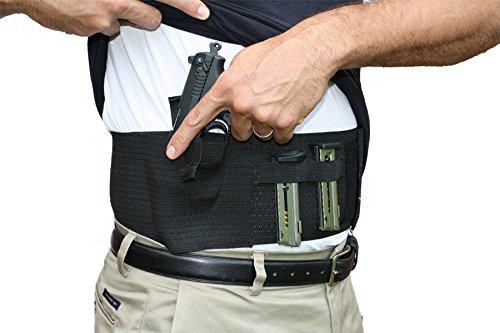 AlphaHolster Belly Band Hand Gun Holster - Abdomen Holster - Cross Draw - Any Gun