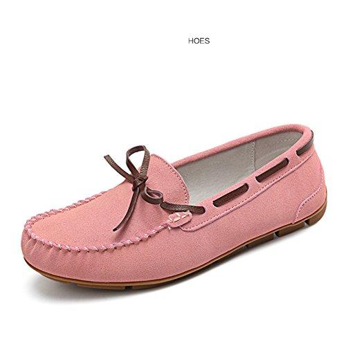 Primavera Mocasín-gommino,La Versión Coreana De Zapatos Corte Bajo,Las Mujeres Zapatos Planos,Las Mujeres Zapatos De Cuero,Zapatos De Las Mujeres Embarazadas E