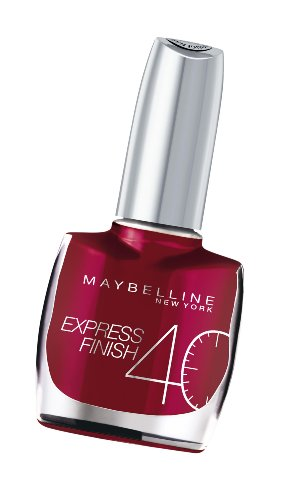(Maybelline Express Finish 40 Seconds Nail Varnish Number 165, Pearly Fuchsia 10 Ml)