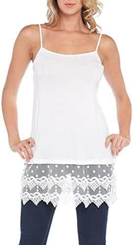 Kaktus Women's Lace Camisole and Shirt Extender - Plus Size Available