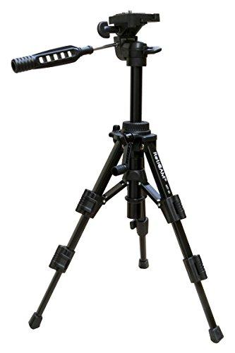 RetiCAM-Tabletop-Tripod-with-3-Way-PanTilt-Head-Quick-Release-Plate-and-Carrying-Bag-MT01-Mini-Tripod-Aluminum-Black
