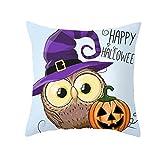 Akabsh Halloween Pillow Case Owl Series Pillow Case Nordic Sofa Cushion Waist Pillow Case Halloween