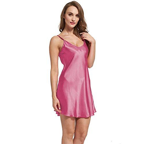 Cuello Con Camisa V Camisón Seda Suave Ropa Mangas Noche Dormir Pijamas Tela Betrothales Sling Pink Camisones De Mujeres Sección Sin ZwX6EWOq