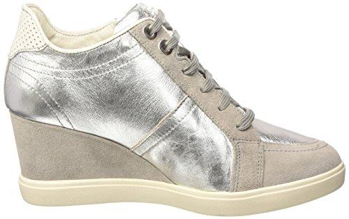 GeoxD Eleni A - Zapatillas de Deporte Mujer - Argento (Silver/Lt Grey)