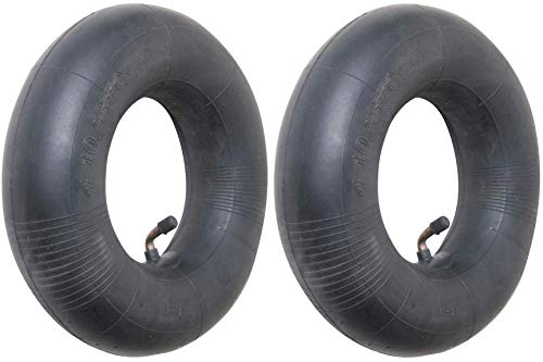 4.10/3.50-4 Premium Replacement Inner Tube (2 Pack) - Heavy Duty Angle Valve 4.10 x 3.5 - 4 Tube for 10