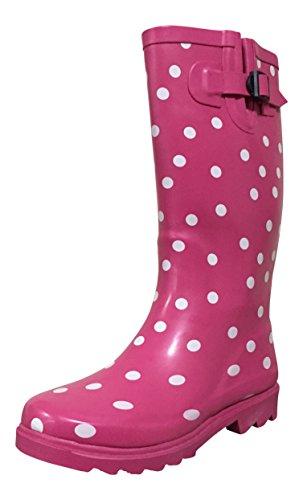 White / Pink Polka Dots - 8