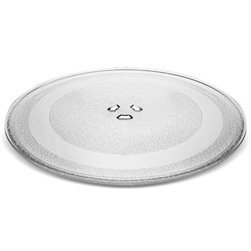 """Small 9.6"""" / 24.5cm Microwave Glass Plate/Microwave Glass Turntable Plate Replacement - For Small Microwaves"""