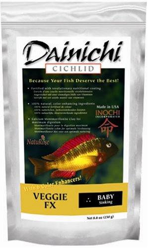 Dainichi CICHLID - Veggie FX Sinking (8.8 oz) Bag - Baby - Dried Shrimp Baby Freeze