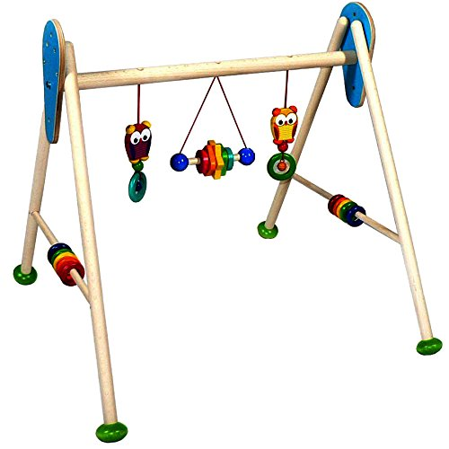 Hess Holzspielzeug 13376 - Babyspielgerät Eule aus Holz, ca. 62x57x55 cm 13376.0