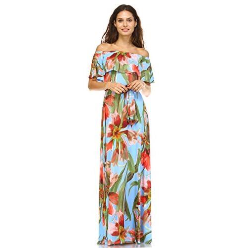 a957efb9e82 outlet Zoozie LA Women s Off The Shoulder Wrap Maxi Dress ...
