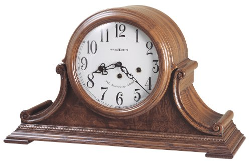 Glass Beaded Veneer Finishes - Howard Miller 630-222 Hadley Mantel Clock