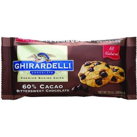 Ghirardelli Chocolate 60% Cacao Bittersweet Chocolate Baking Chips, 10 (Gift Bittersweet Chocolate)