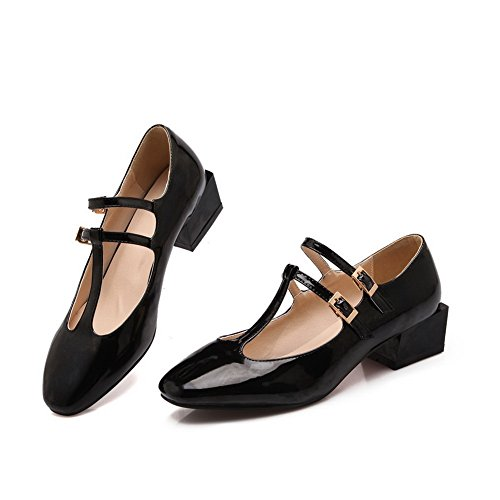 BalaMasa Womens Round-Toe Low-Cut Uppers Assorted/ Color Patent-Leather Flats-Shoes
