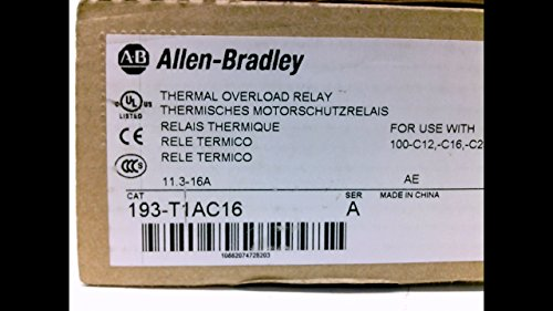Allen Bradley 193-T1ac16 Series A Thermal Overload Relay, 11.3-16A 193-T1ac16 Series A Allen Bradley Thermal Overload Relay