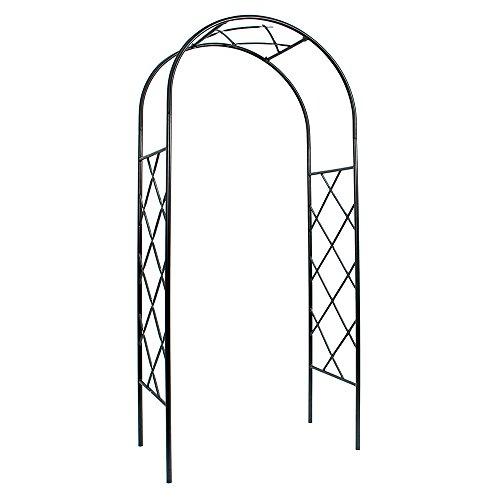 Iron Pergola Arbor - Achla Designs Lattice Arbor Garden Arch