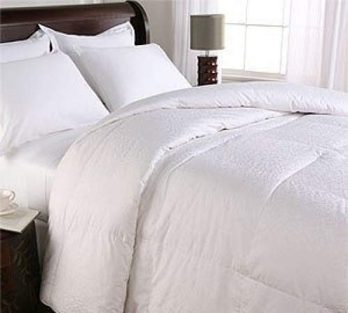 Royal Hotel Queen Size Down-Comforter 500-Thread-Count Down Comforter 100 percent Cotton 500 TC - 750FP - 50Oz - Solid White