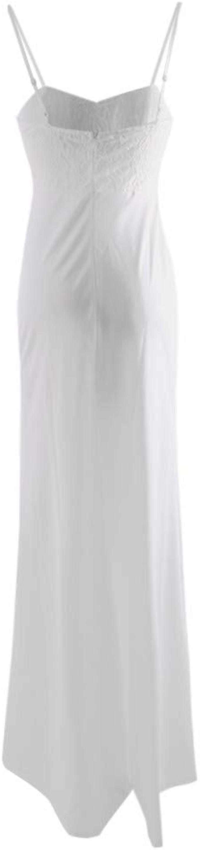 Vestidos para Mujer,Elegante Vestido de Novia de Encaje Vestidos de Boda del cordón Fiesta Vestidos Vestido de Cóctel Vestido de Noche Moda Slim Fit Largo Sexy Vestidos sin Manga vpass: Amazon.es: Ropa