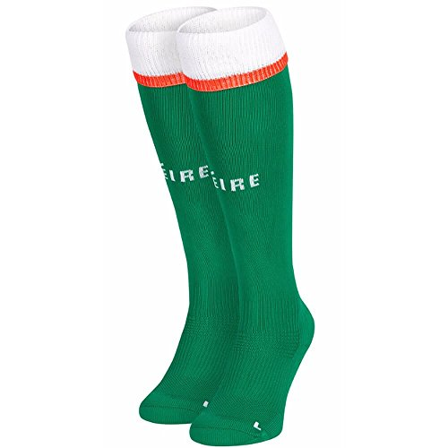 New Balance FAI Republic of Ireland 2017/18 Home Socks - Youth - Jolly Green - UK Shoe Size 3-6 by New Balance