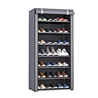 Aggice 8 Tiers Shoe Rack with dustproof Cover Dormitory Simple Collect Rac,Collect Colthes,Shoes, Books, Sundries