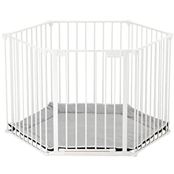 BabyDan BabyDen Playpen with Grey Playmat (White)  sc 1 st  Amazon UK & BabyDan BabyDen Playpen with Grey Playmat (White): Amazon.co.uk: Baby