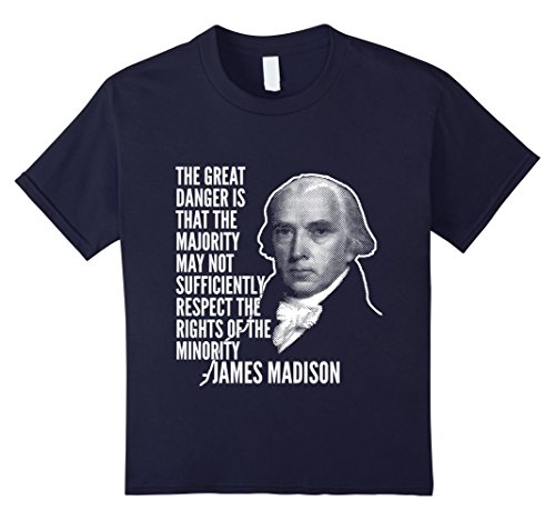 Kids Rights Of The Minority James Madison Founding Fathers Tee 12 Navy