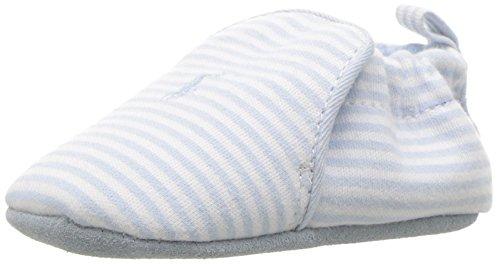 Polo Ralph Lauren Kids Boys' Percie Light Blue Stripe Loafer, White/Blue, 4 M US Infant (Ralph Lauren Loafers Baby)