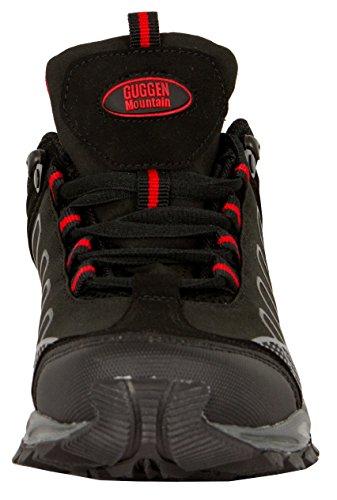 Schwarz Outdoor Walkingschuhe Outdoorschuhe Schuhe T002 Trekkingschuhe GUGGEN Frauen Wanderschuhe Mountain Softshell Damen Cw0nFPqxa