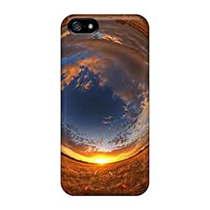 Durable Abstract Nature Fields Back Case/cover For Iphone 5/5s
