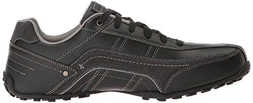 Skechers City Walk Elendo Black Mens Leather Traienrs Shoes