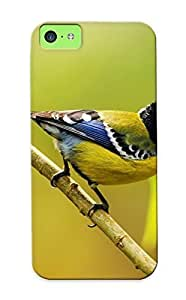 Iphone 5c Case Cover - Slim Fit Tpu Protector Shock Absorbent Case (great Tit) Kimberly Kurzendoerfer