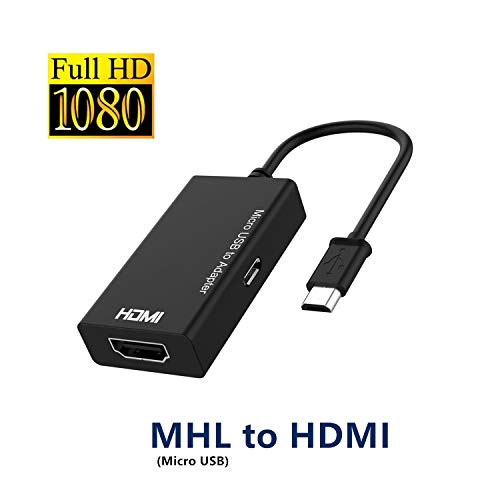 Micro USB to HDMI, MHL to HDMI converter, Micro USB to HDMI Adapter, Micro USB to HDMI Converter with Video Audio Output, MHL HDTV Adapter 1080P View HD Videos from Mobile Phone to TV