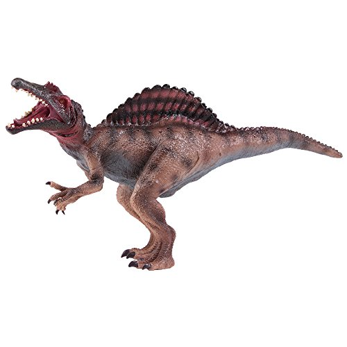 NATIONAL GEOGRAPHIC Wildlife Wow! - Realistic Soft Dinosaur Action Figure (Medium Spinosaurus) - STEM Toy with FREE Augmented Reality App