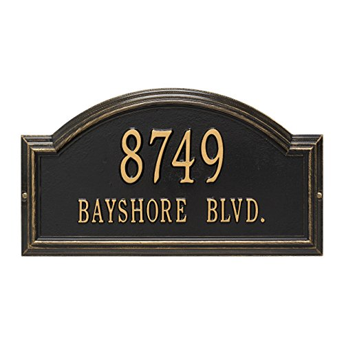 Custom Providence Arch WALL Address Plaque 2 Lines 17