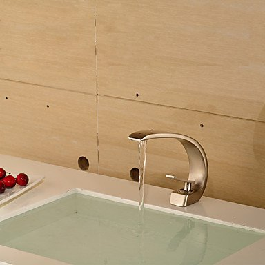 CNHK Wannenbatterie Modernen Stil Nickel Einhebel Bad Waschbecken Einloch Kaltwasser Wasserhahn-Antique Silber Plate