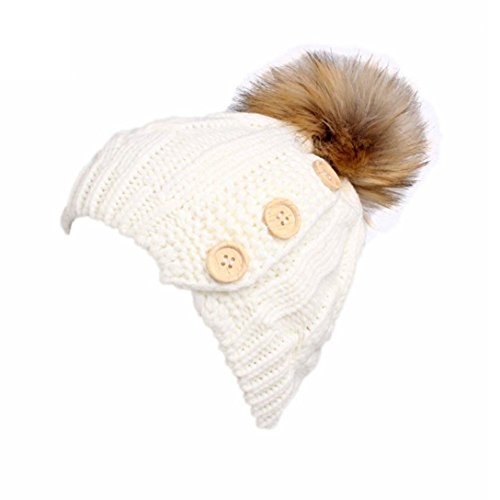 Turban Retro Fitted Head Cover Wrap Hat Cap Hair Loss (white) - 4