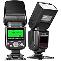 Voking VK750III Remote TTL Speedlite Slave Mode Flash with LCD Display for Canon DSLR Standard Hot Shoe Cameras