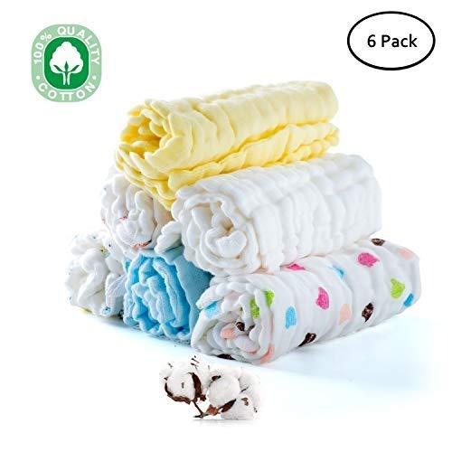 Snawowo Baby Muslin Washcloths