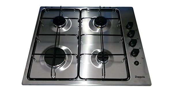 ZOPPAS cocina PGG62414XA gas 4 fuegos 60 cm valvolato ...