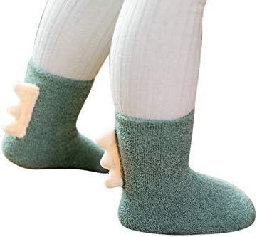 Cute Dinosaur Themed 3-Pack Combo Anti-Slip Baby Socks for 12-36 Month Baby Boy Girl Toddlers (Dinosaur Style)