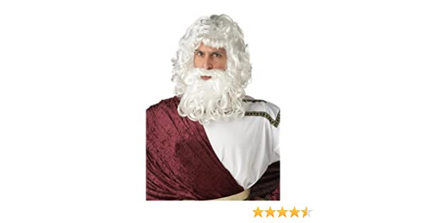 God Zeus Costume Wig and Beard Set