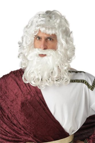 God Zeus Costume Wig and Beard (Moses Wig And Beard Adult Costumes Set)