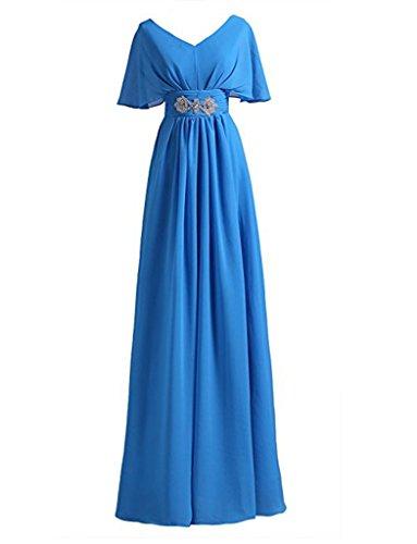 JYDress - Vestido - trapecio - para mujer azul azul 46