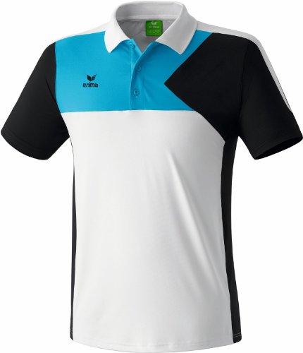 Erima Premium One Poloshirt - Polo para hombre Blanco (Weiß/Schwarz/Curacao)