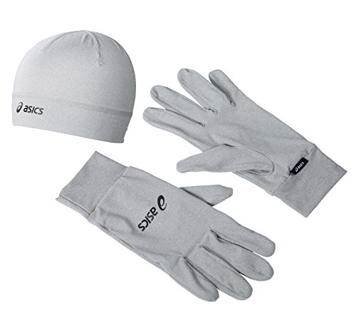 Asics Correr Pack (Gloves And Gorro ) Gris